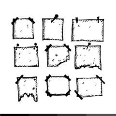 Freehand handdrawn frames Illustration design