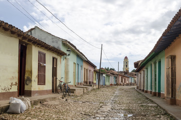 Colourful street in Trinidad, Cuba