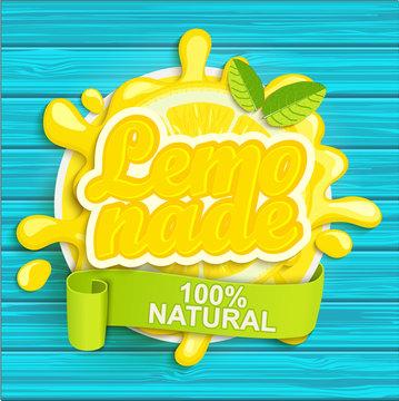 Lemonade label splash.