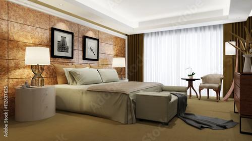 elegantes hotelzimmer mit doppelbett stockfotos und. Black Bedroom Furniture Sets. Home Design Ideas
