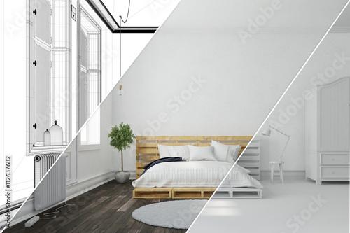 Planung von schlafzimmer mit raumplaner stockfotos und for Raumplaner schlafzimmer kostenlos
