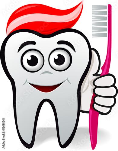 Zahn als Figur oder Logo für Zahnarzt oder Zahnmedizin mit ...