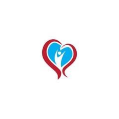 human hearth logo vector