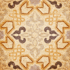 Detail of the traditional Decorative image of grunge vintage wal