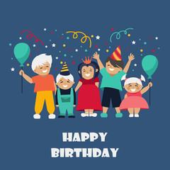 children. celebration. birthday. vector illustration.
