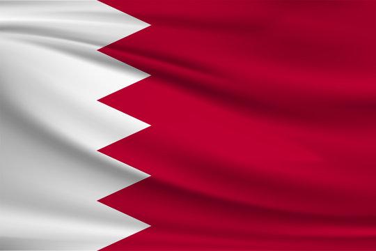 The national flag of Bahrain