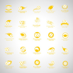 Ball Icons Set - Isolated On Gray Background. Vector Illustration, Graphic Design