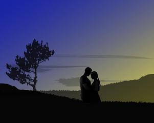 Romantic date. Wedding concept.