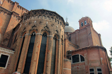 old ancient medieval gothic venetian catholic cathedral Santi Gi