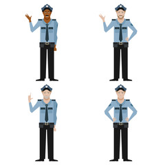 Set of Police men