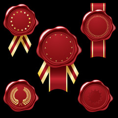 Wax seal collection with ribbons