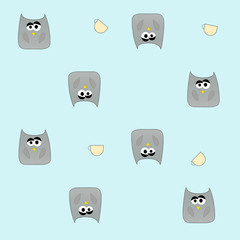 Sad owl pattern