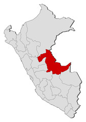 Map - Peru, Ucayali