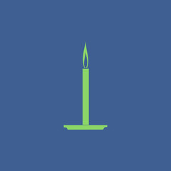 Candle icon. Flat design style.
