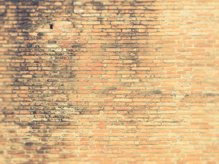 Old red grunge brick wall (Vintage filter effect used)
