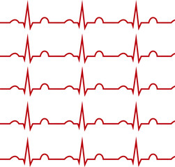 ECG on a white background, isolated