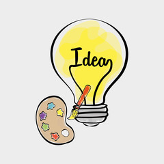 Idea design. sketch icon. White background , vector
