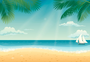 Beautiful Beach Vector Design