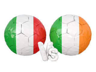 Italy / Eire low poly soccer game 3d illustration