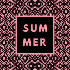 Summer hipster boho background