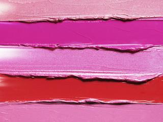 Still life of smeared lipsticks
