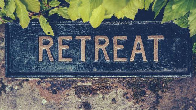 Spiritual Retreat Sign