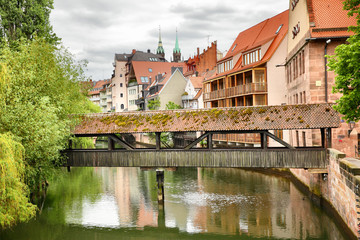 Wall Mural - Covered bridge in Nuremberg