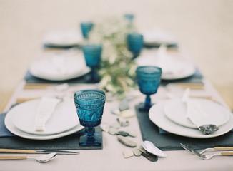 Place setting for formal dinner