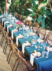 Set Table at Outdoor Wedding Reception