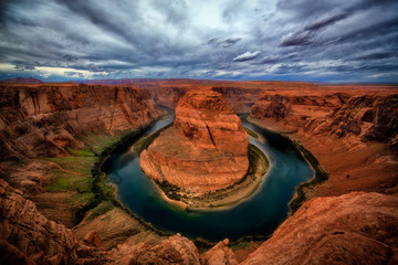Horseshoe bend in grand canyon national park