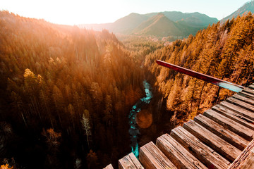 Elevated view from bridge crossing Vance creek