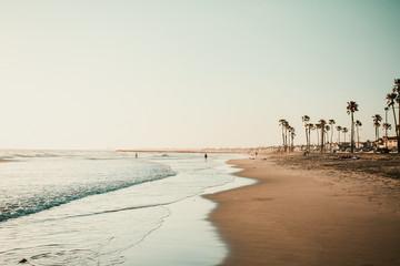 People on shoreline
