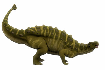 Talarurus Side Profile - Talarurus was a herbivorous armored dinosaur that lived in the Cretaceous Period of Mongolia.