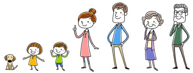 イラスト素材:家族 セット
