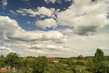 Landscape with beautiful sky