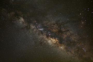 Core of Milky Way. Galactic center of the milky way, Long exposu