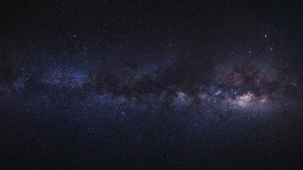 The Panorama milky way galaxy.Long exposure photograph.with grain