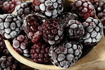 Spoonful of Frozen Blackberries