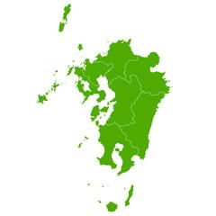九州 地図 緑 アイコン