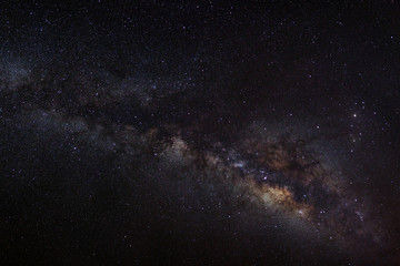Beutiful Way galaxy, Long exposure photograph, with grain.
