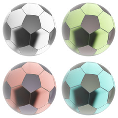 Glass soccer ball.