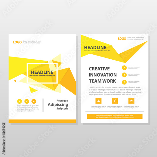 Orange yellow vector annual business proposal leaflet brochure flyer orange yellow vector annual business proposal leaflet brochure flyer template design book cover layout design saigontimesfo