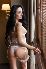 bride in sexy lingerie