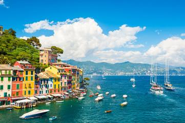 Sea coast in Portofino, Italy
