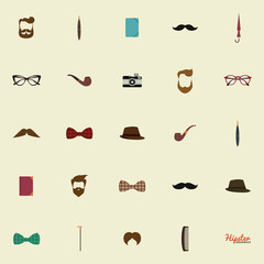 Abstract hipster objects