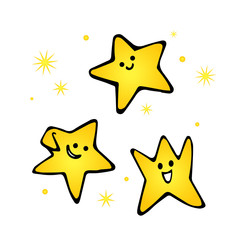 Vector of hand draw little cute star