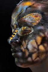 body art - butterfly Totenkopf