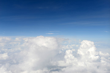 Canvas Prints Heaven Over the cloud with blue sky
