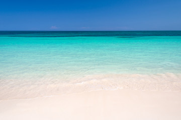 Sand and caribbean sea background