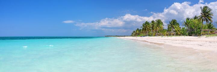 Panorama of the beach of Cayo Levisa island, Cuba